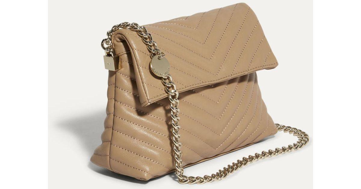 29ef825ae4 Karen Millen Mini Leather Regent Chain Bag - Nude in Natural - Lyst