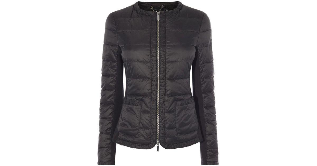 93ac75c95f Karen Millen Lightweight Padded Jacket - Black in Black - Lyst