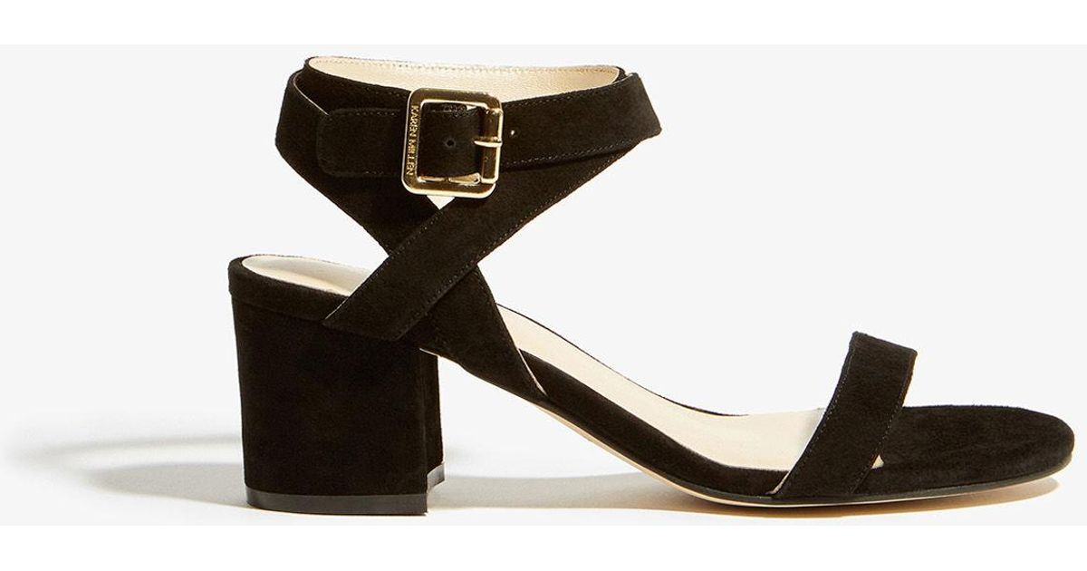 6cd9d0bbe7c9f Lyst - Karen Millen Suede Strappy Sandals in Black