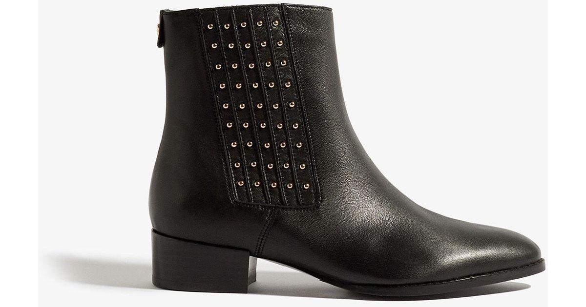 Karen Millen Leather Studded Ankle