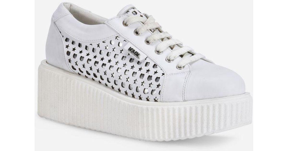 Karl Lagerfeld KREEPER Kameo Kut-Out Lace Shoe 98KsCiz
