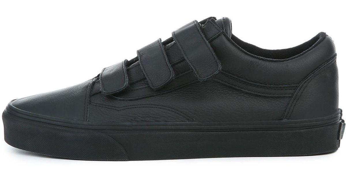 Lyst - Vans The Men s Mono Leather Old Skool V in Black for Men 950f9f3c5