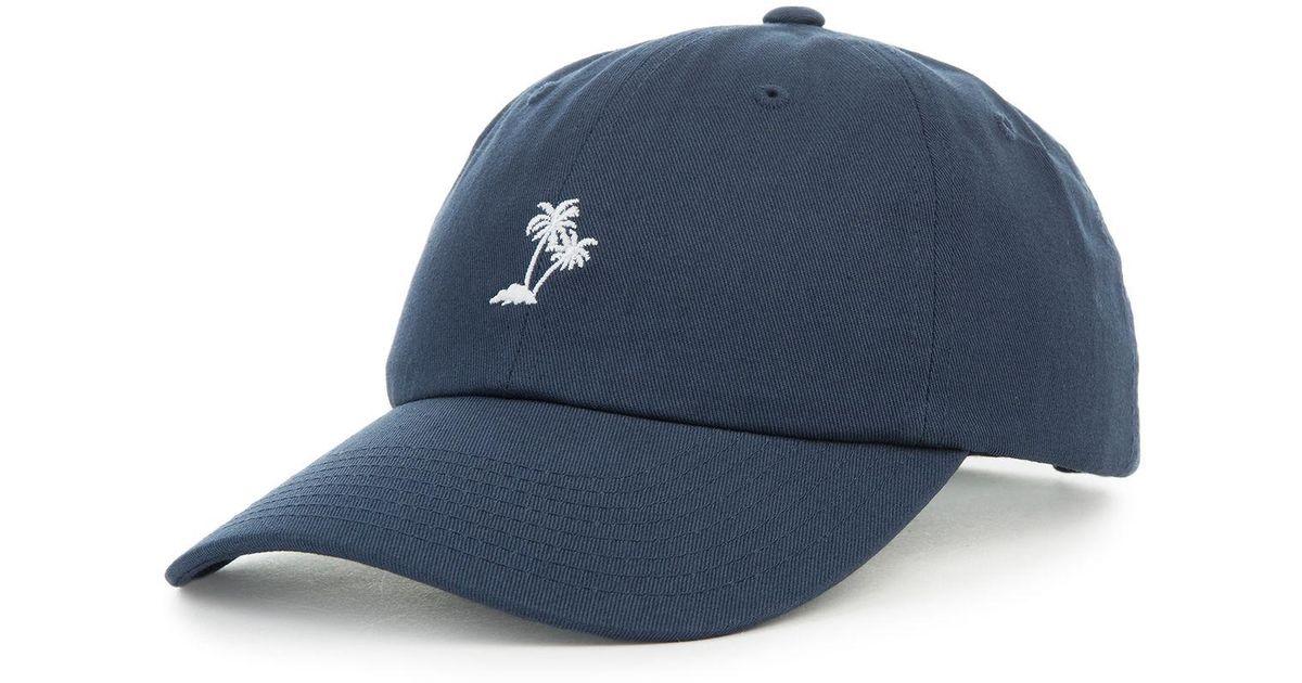 2269e5c0 Lyst - Vans The Palm Curved Bill Jockey Dad Cap In Dress Blue in Blue for  Men