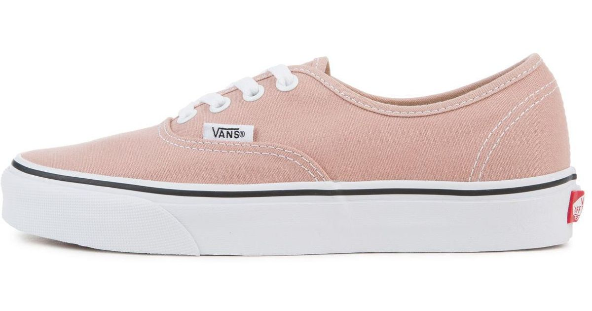 4727a00844e5 Lyst - Vans The Women s Authentic In Mahogany Rose And True White in Pink