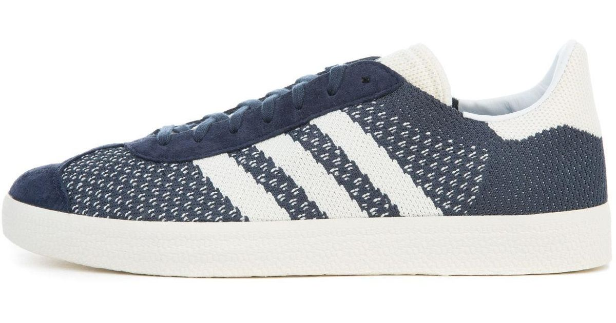 quality design 514d9 dda77 Lyst - adidas The Gazelle Primeknit In Nemesis Off White And Chalk White  in White for Men