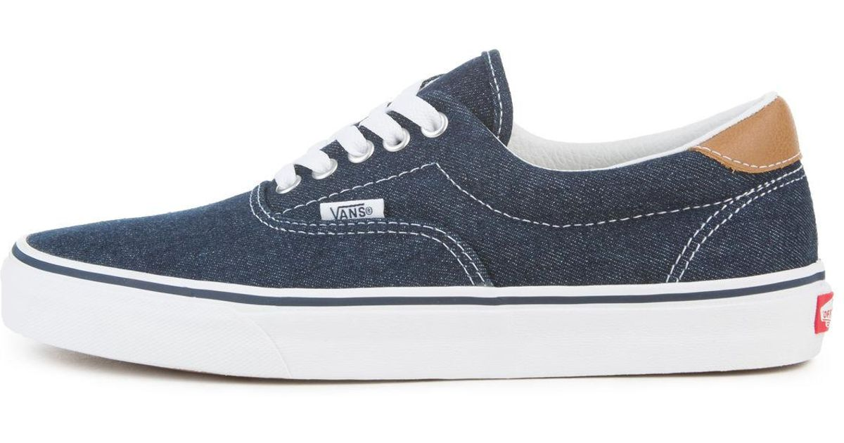 1281cd29d68a47 Lyst - Vans The Unisex Era 59 In Dress Blues And Chipmunk in Blue