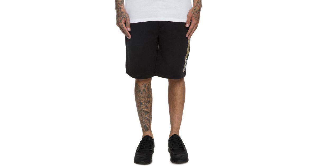 bc8a9bc053 Lyst - Vans The Blendline Fleece Shorts In Black in Black for Men