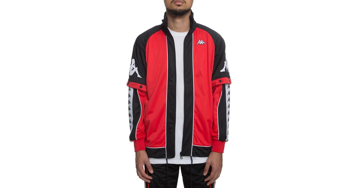 4639bc89f Kappa - The 222 Banda Big Bay Jacket In Red; Black And White for Men - Lyst