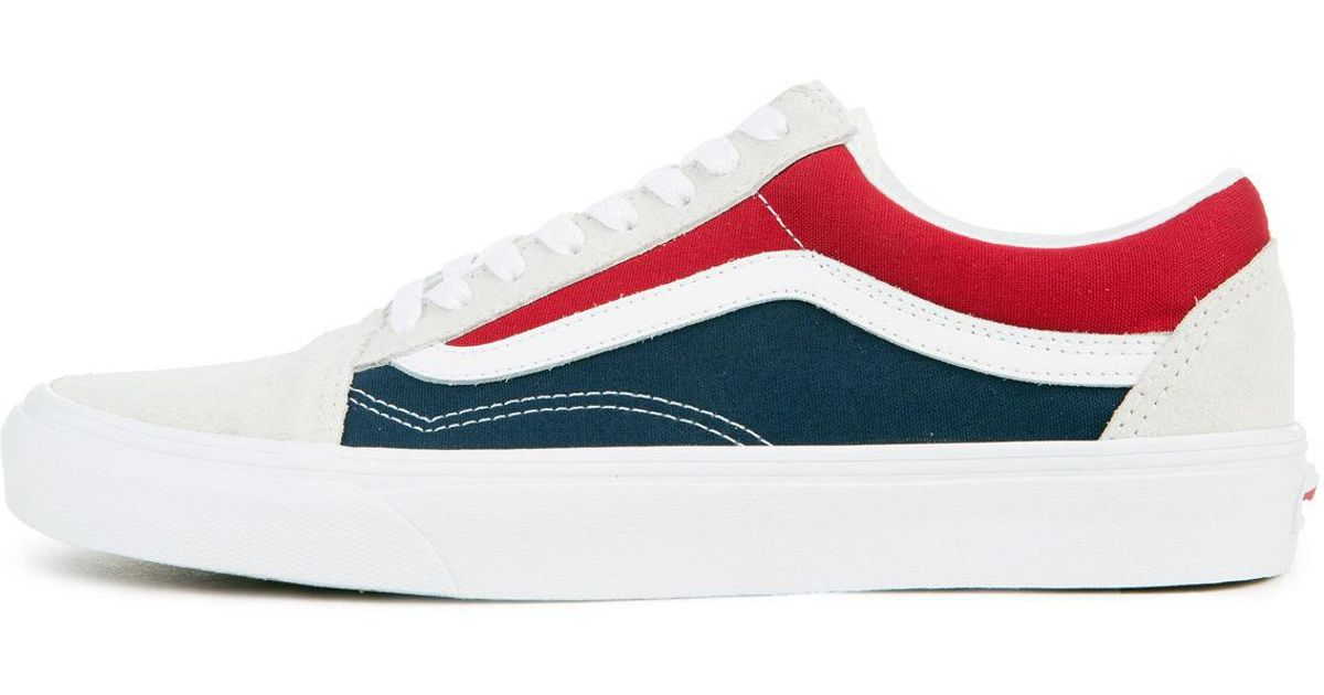 8b3fa777e752 Lyst - Vans The Men u0027s Old Skool Retro Block In White  Red And Dress .