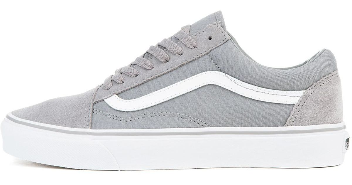 1aedacac471206 Lyst - Vans The Unisex Old Skool In Frost Grey Suede And True White in Gray  for Men