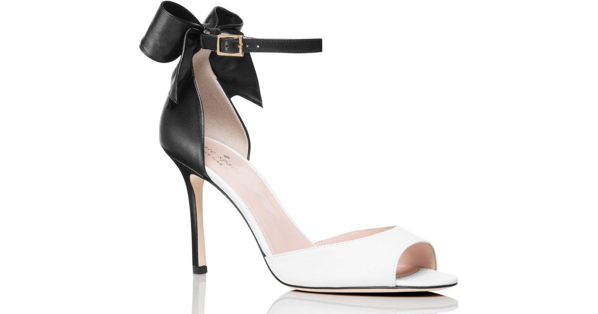 Kate Spade Leather Izzie Heels in Black