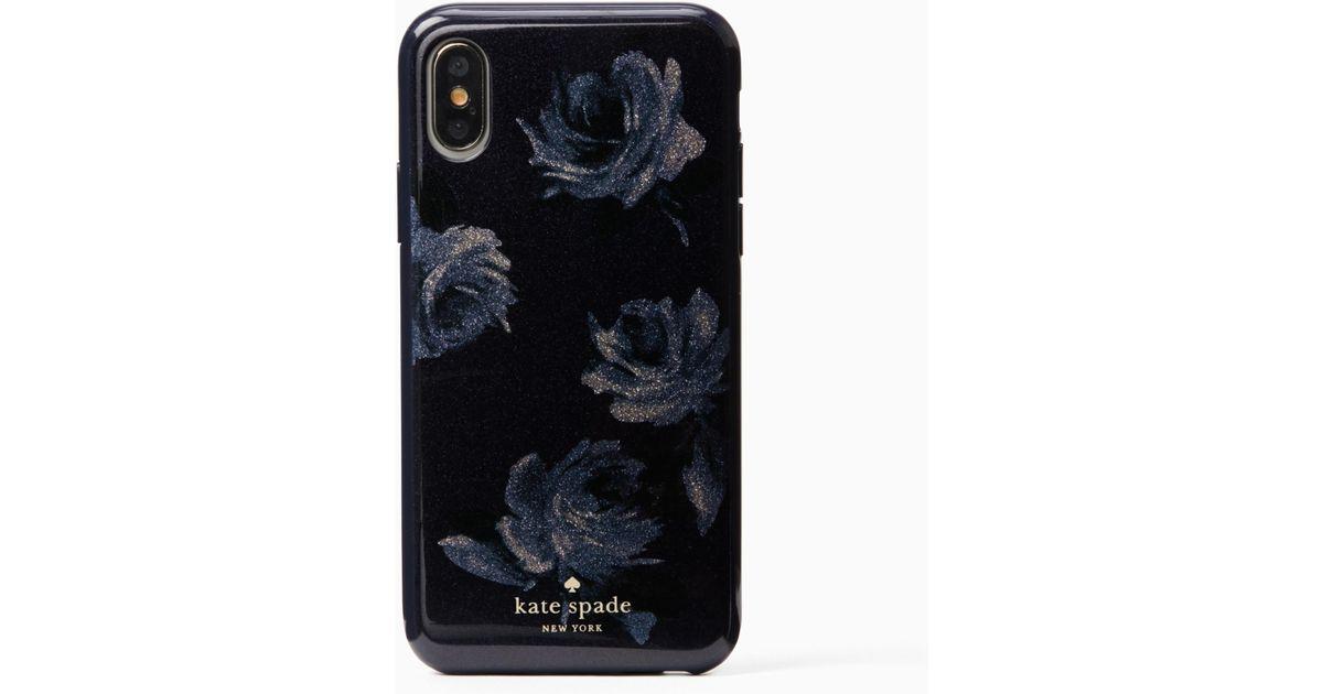 promo code 6b0de bc16e Kate Spade Blue Night Rose Glitter Iphone 7/8 Case