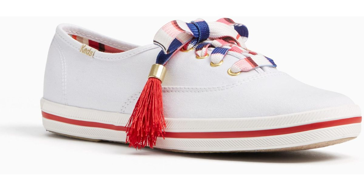 kate spade keds for kick sneakers in white lyst