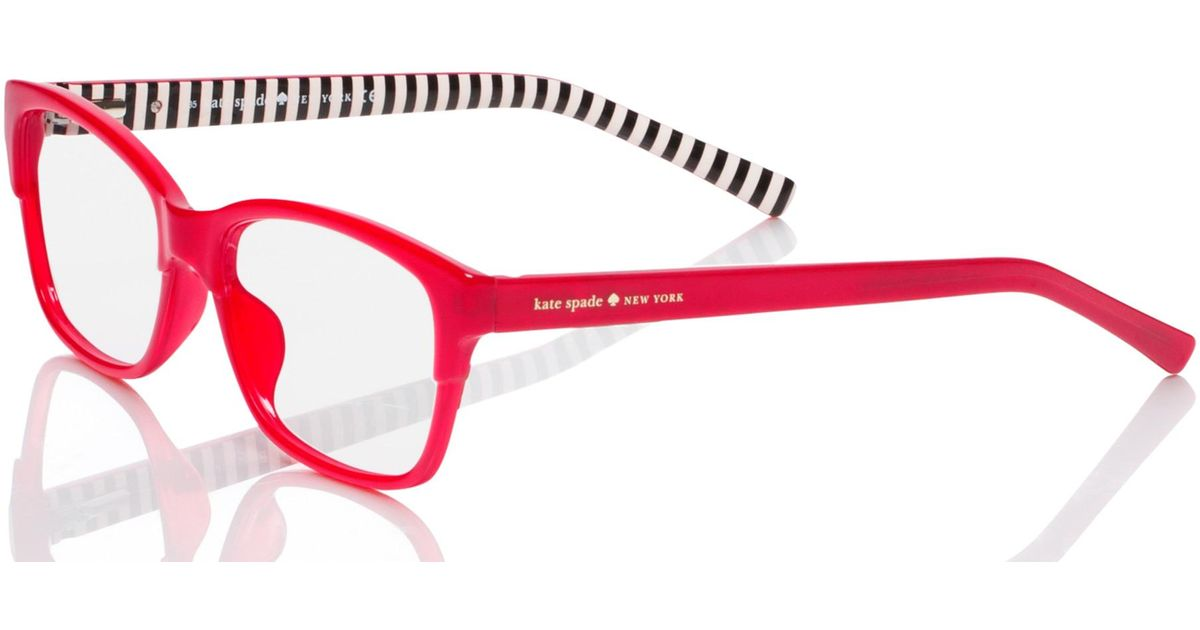 Lyst - Kate Spade New York Tenille Glasses in Red