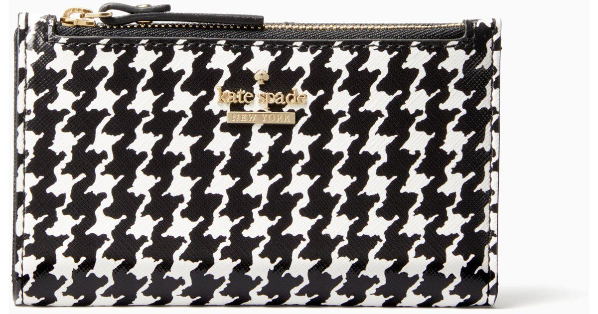 Kate Spade New York Womens Cameron Street Houndstooth Mikey Wallet