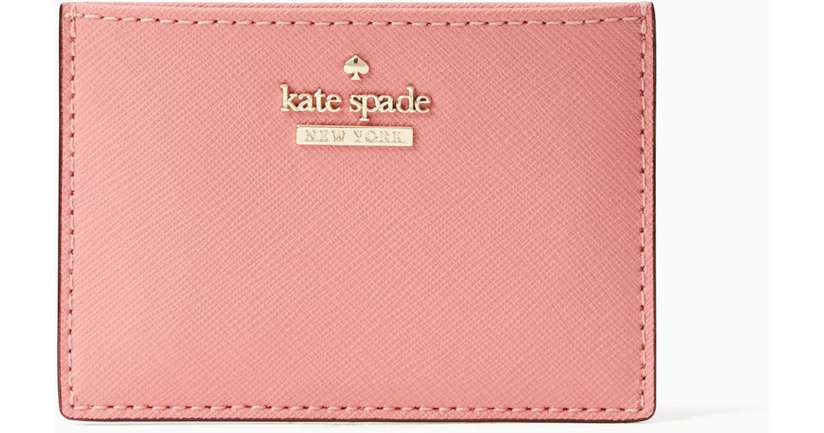 timeless design b80b6 97260 Kate Spade Pink Cameron Street Card Holder
