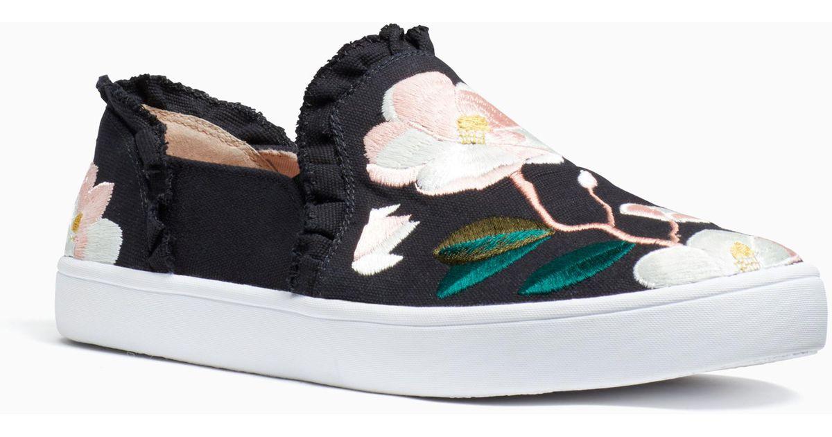 6d8e1a9969b1 Lyst - Kate Spade Leonie Sneakers in Black