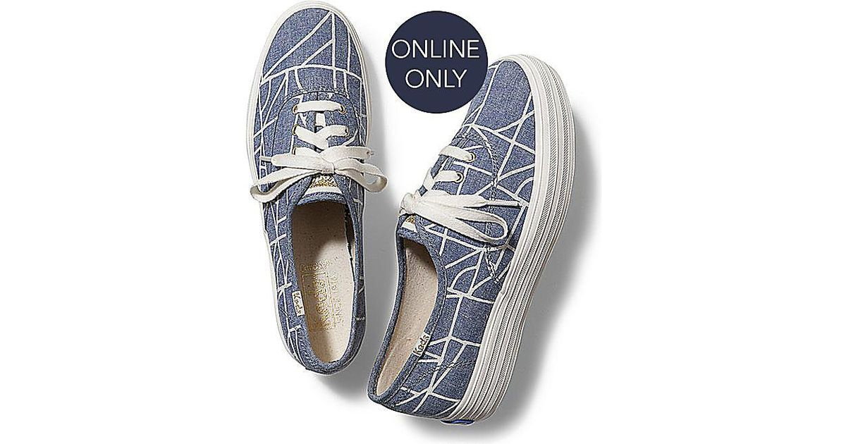 51dd540248950 Keds Blue Triple Abstract