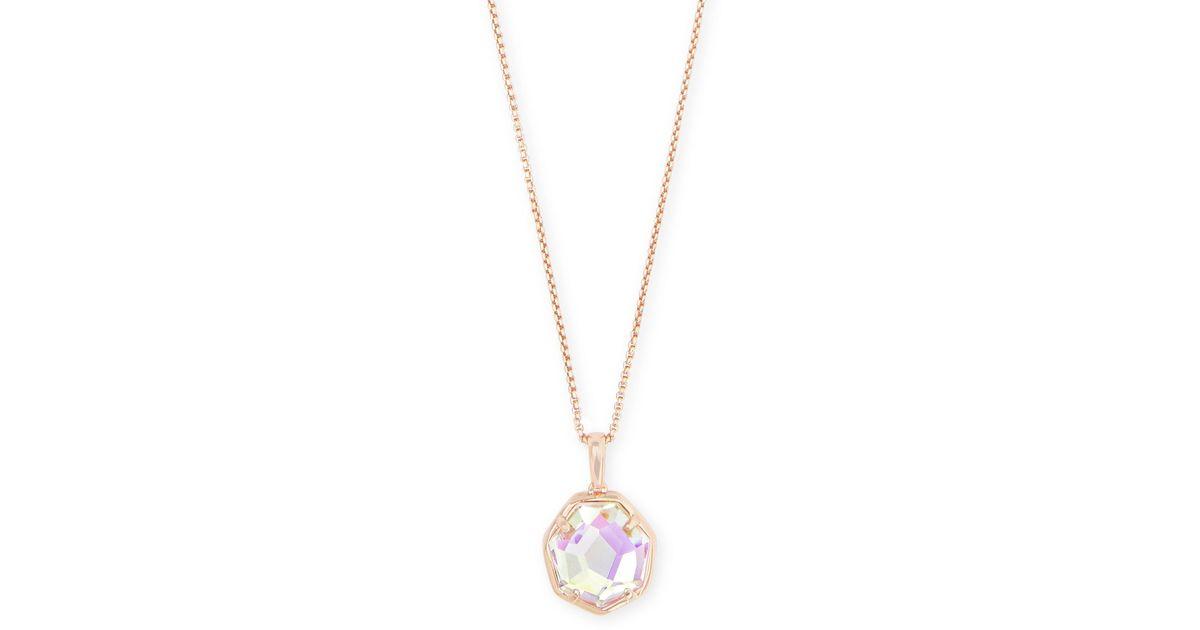 Kendra Scott Cynthia Rose Gold Pendant Necklace In Metallic Lyst