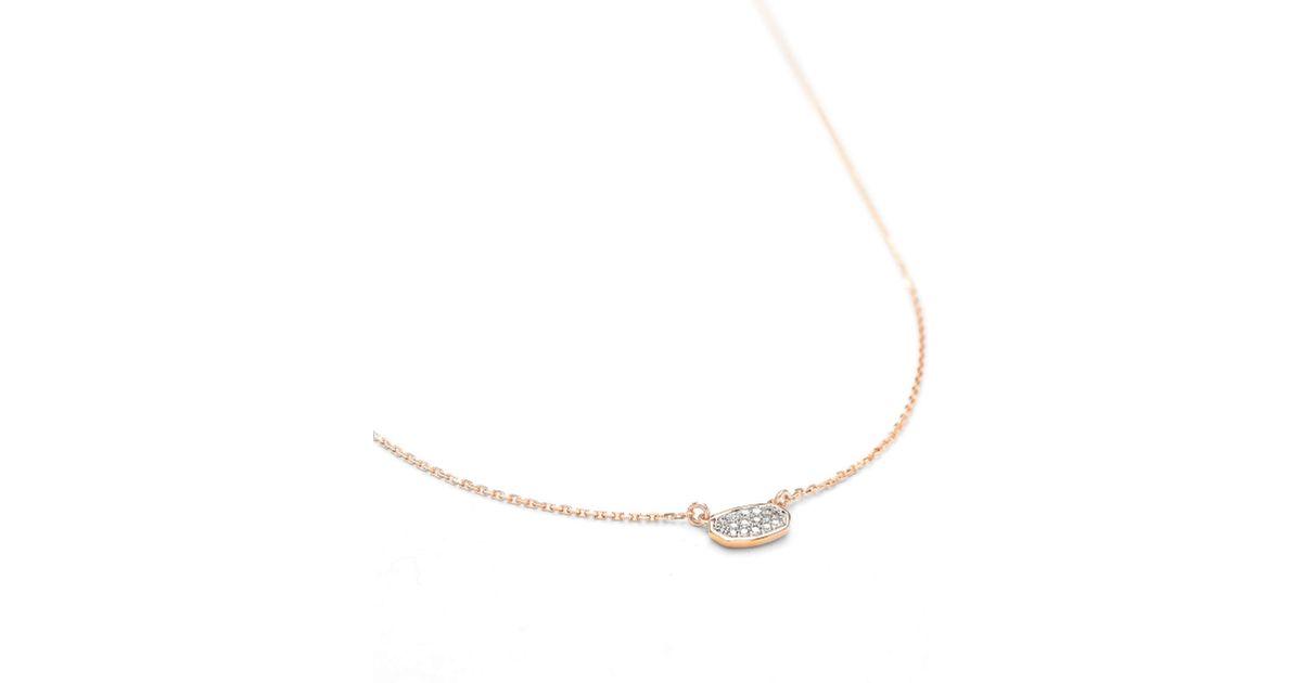 f7c090df6f405 Kendra Scott Metallic Marisa Pendant Necklace In White Diamond And 14k Rose  Gold