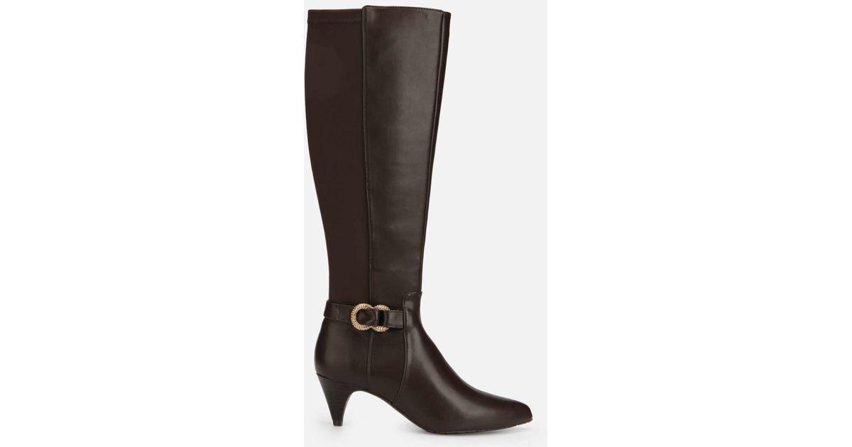 a8b80b6a6f2 Kenneth Cole - Brown Kick Tall Dress Boot With Kitten Heel - Lyst