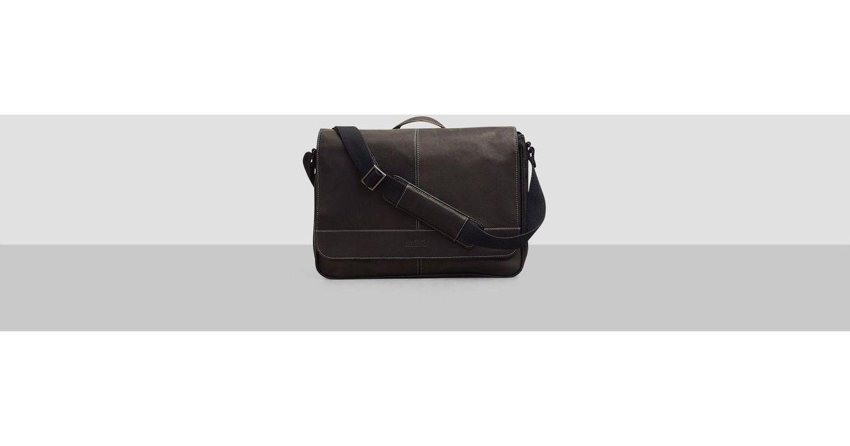 Lyst Kenneth Cole Reaction Risky Business Messenger Bag In Black For Men