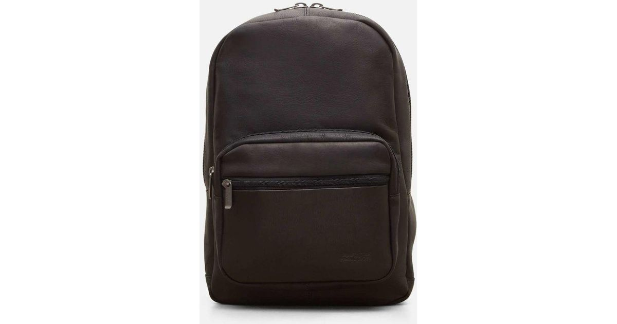 f77e7a183 Kenneth Cole Ahead Of The Pack Leather Computer Backpack in Black for Men -  Lyst