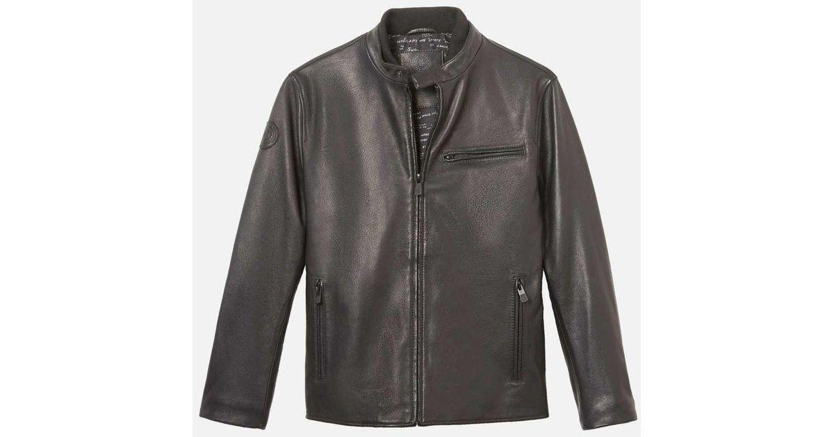 1d97ac74f Kenneth Cole - Black The Signature Men's Moto Jacket 88 for Men - Lyst
