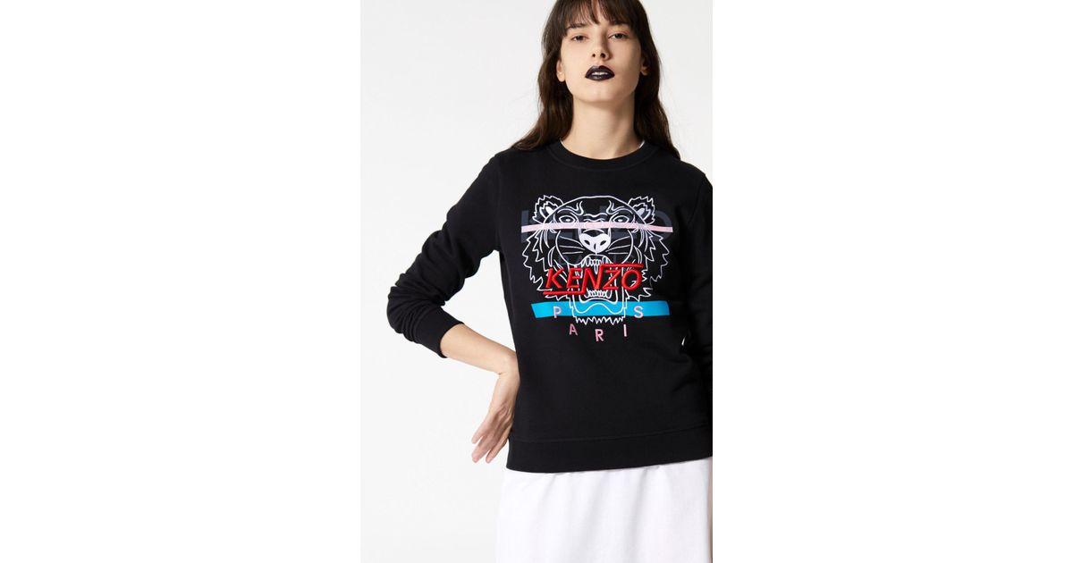 12a966e30c KENZO Black 'hyper Tiger' Sweatshirt