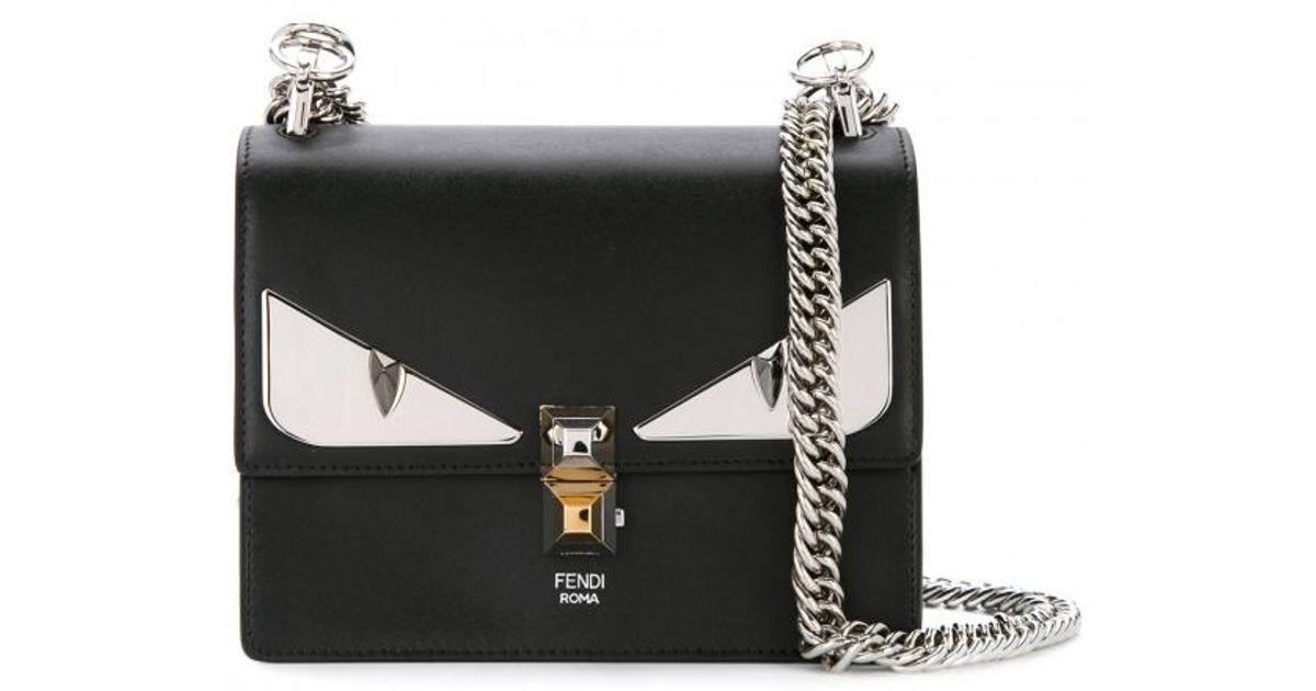 b72072111f6f Lyst - Fendi Mini Kan I Monster Bag in Black