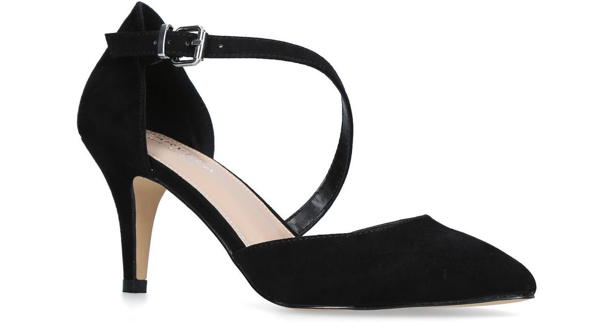 165306f4c4a6 Carvela Kurt Geiger Black  kitty  Suedette Court Shoes in Black - Save 68%  - Lyst