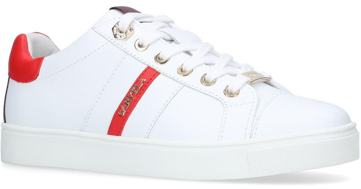 4f24e04da8cc5 Carvela Kurt Geiger Lisa No Heel Sneakers White in White - Save 17% - Lyst