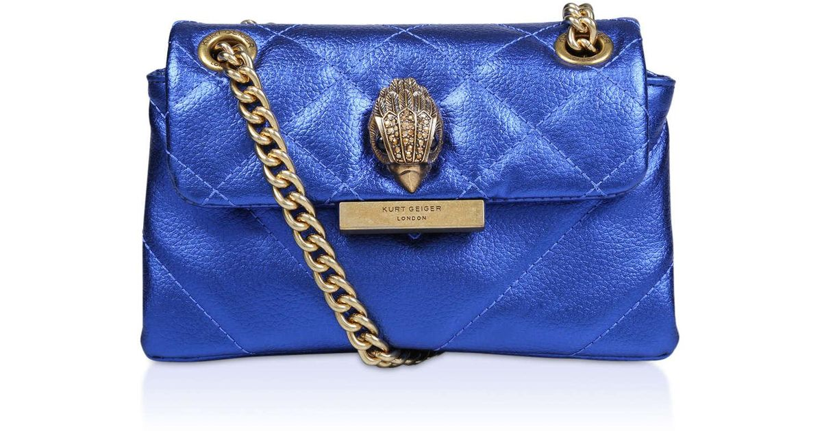 Kurt Geiger Leather Mini Kensington in Blue - Save 29% - Lyst c3ff981aa6422