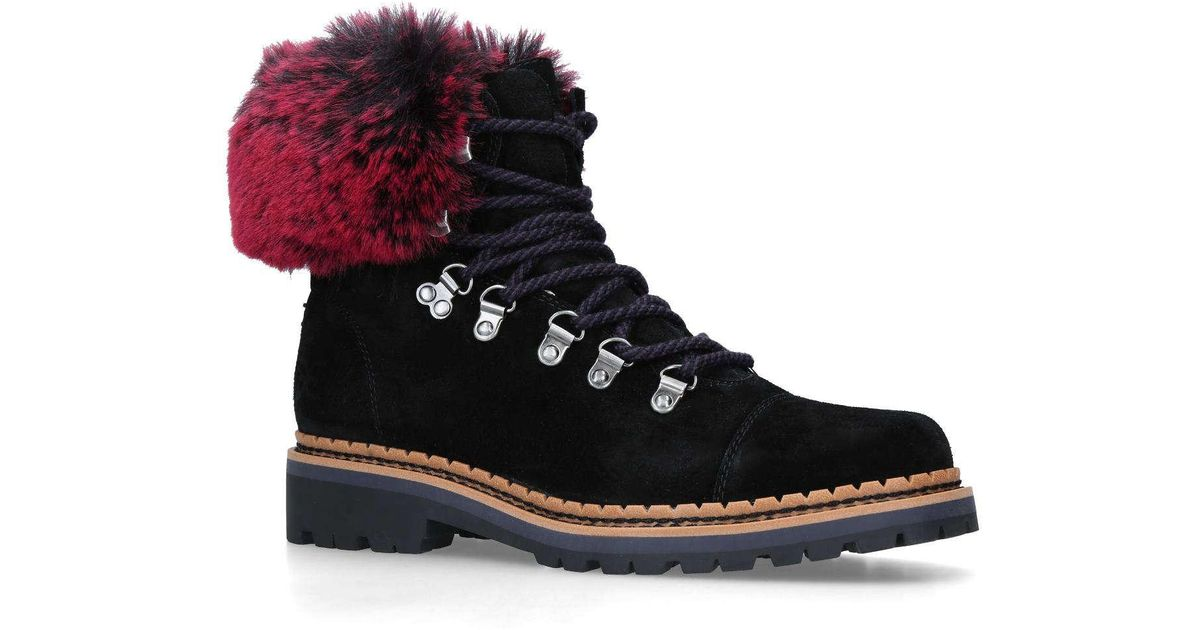 7b7cb171b Sam Edelman Bowen Hiking Ankle Boots in Black - Lyst