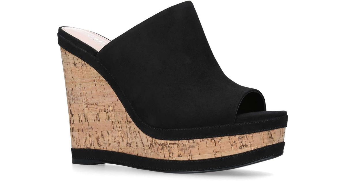 Black 'Stream' high heel wedge sandals best prices sale online clearance tumblr buy cheap release dates exclusive for sale comfortable online WWpZBnonuX