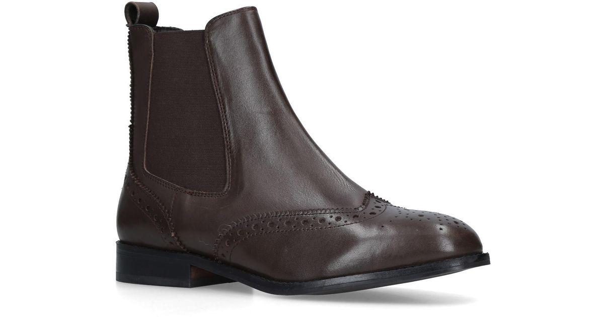 hot-selling discount wholesale online wide selection of designs Carvela Kurt Geiger Dark 'rhea' Brown Leather Chelsea Boots ...