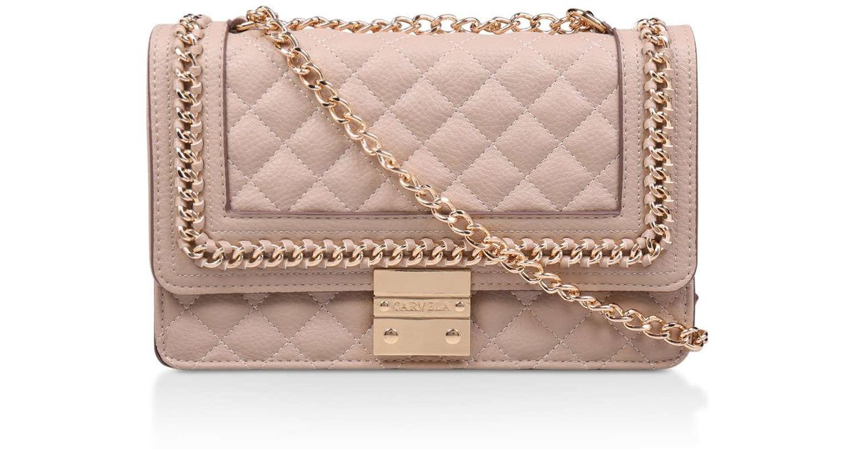 027931f3c7e Carvela Kurt Geiger Large Bailey Chain Bag in Natural - Lyst