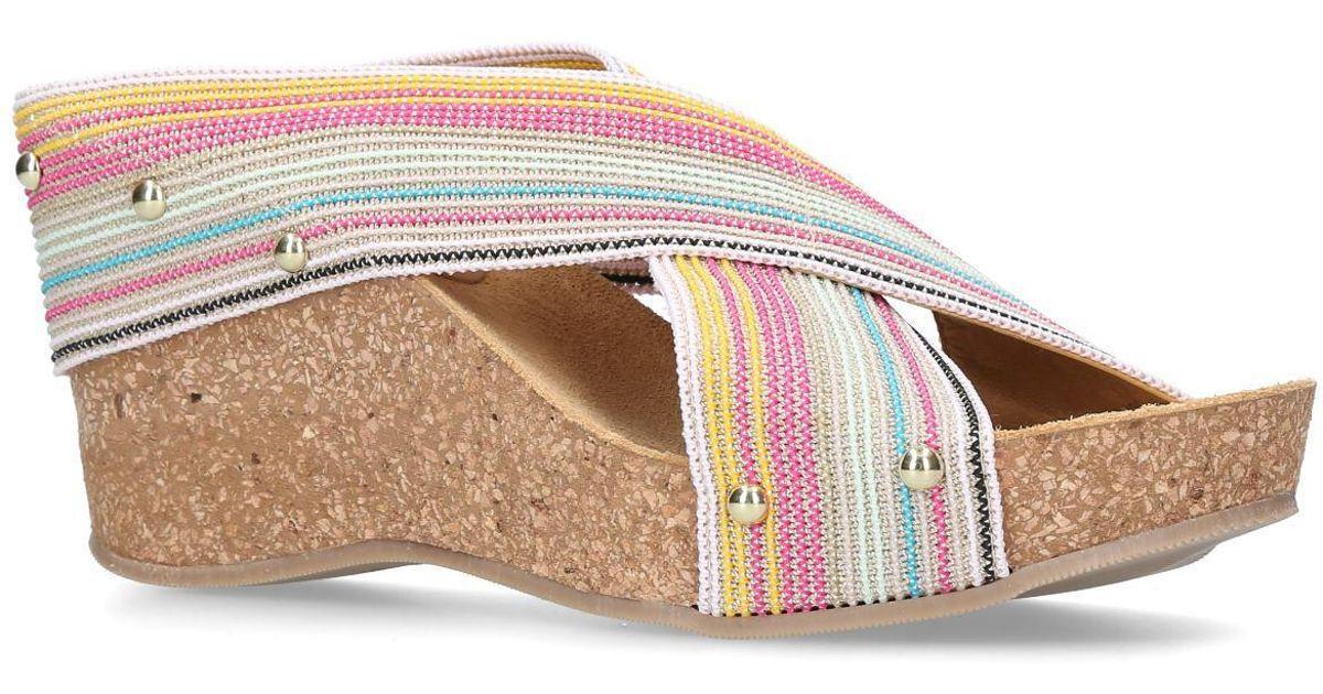 51f8d47ae4c Carvela Kurt Geiger Multi-colored  sully  Mid Heel Wedge Sandals - Save 51%  - Lyst