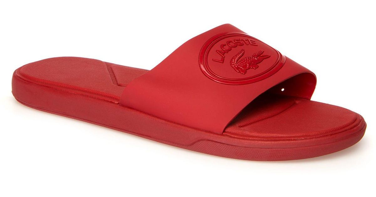 ede955037e9d Lyst - Lacoste L.30 Synthetic Slides in Red for Men