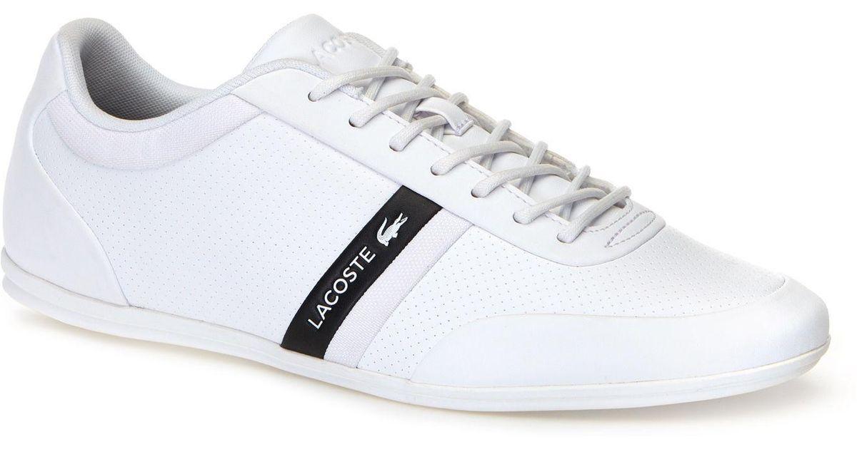 Lacoste Storda Sneaker in White/Black