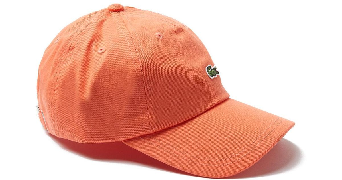 3b96fe86914 Lyst - Lacoste Embroidered Crocodile Cotton Cap in Pink for Men
