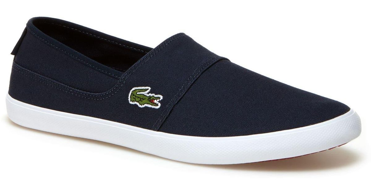 utterly stylish factory outlet sale online Lacoste - Blue Marice Canvas Slip-ons for Men - Lyst