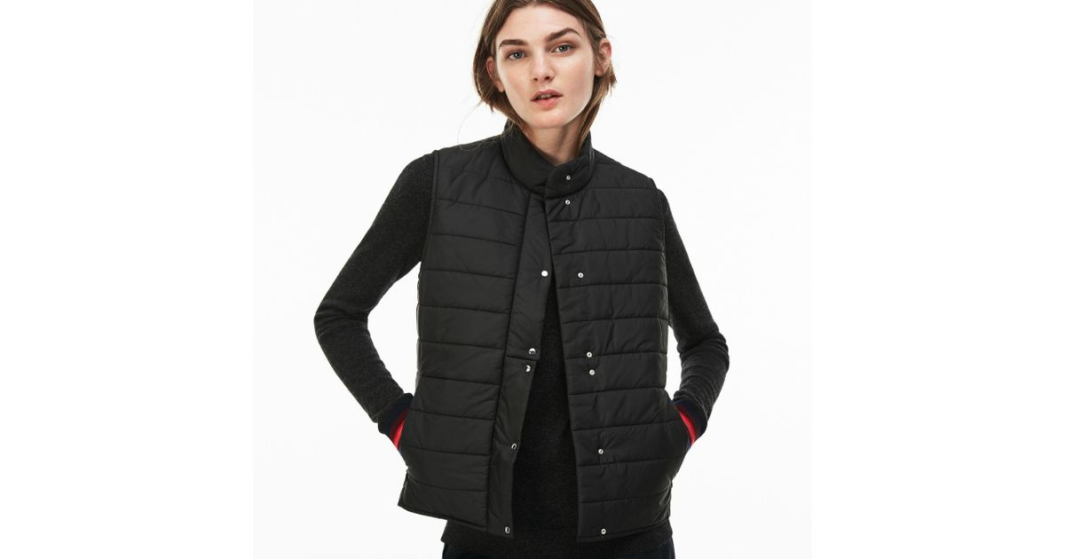 7cdf8af368c7 Lyst - Lacoste Lightweight Quilted Down Taffeta Vest in Black