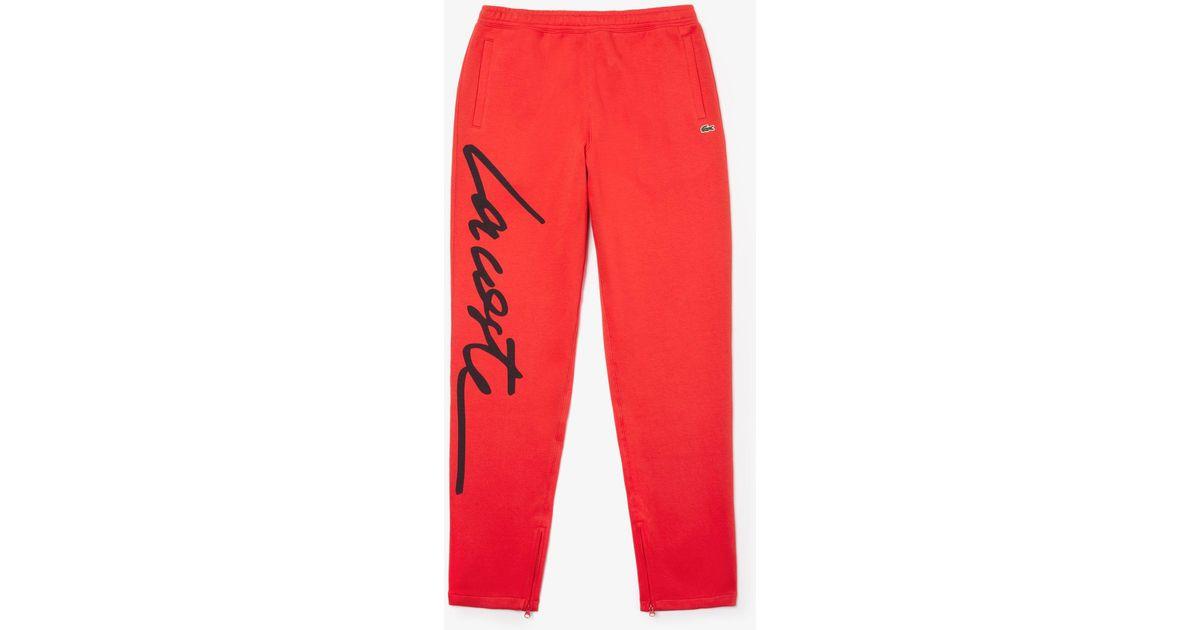 661adbfa33 Lacoste Unisex Live Signature Textured Fleece Sweatpants