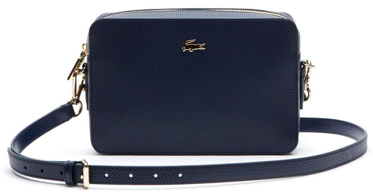 2d25a0ed0f Lacoste Blue Daily Classic Coated Canvas Shoulder Bag