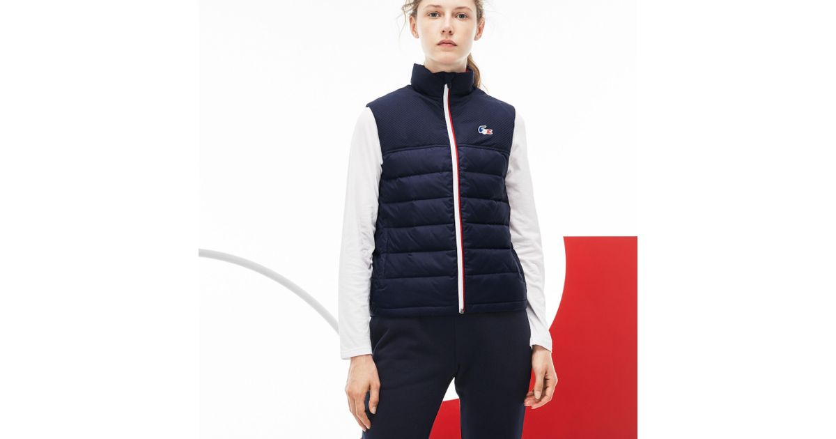 5fe28ba8 Lacoste Blue French Sporting Spirit Edition Quilted Vest