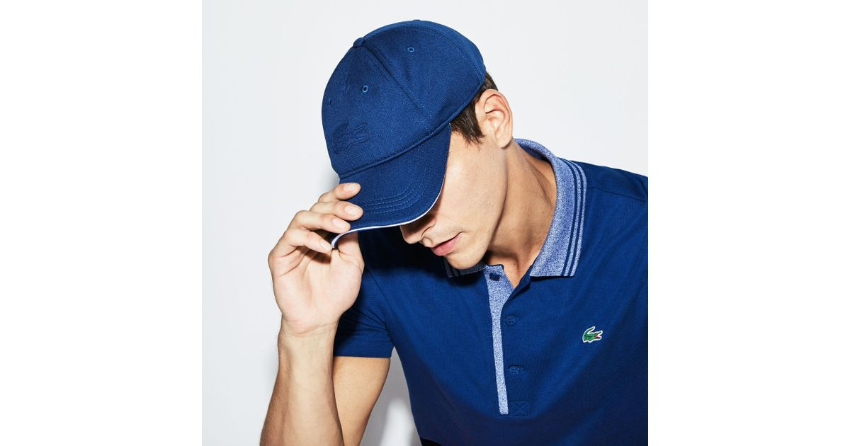 Lyst - Lacoste Unisex Sport Oversized Crocodile Technical Piqué Golf Cap in  Blue for Men - Save 3% 66b5dfddf5f