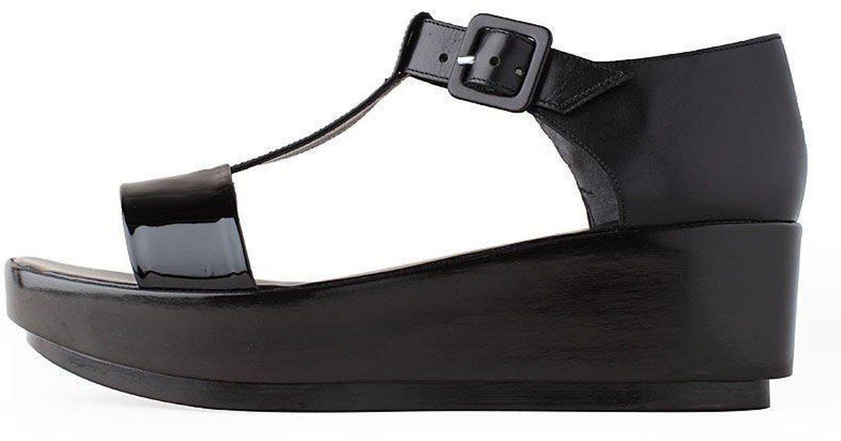 b97d14f68a8 Lyst - Robert Clergerie Pepo T-strap Sandal in Black