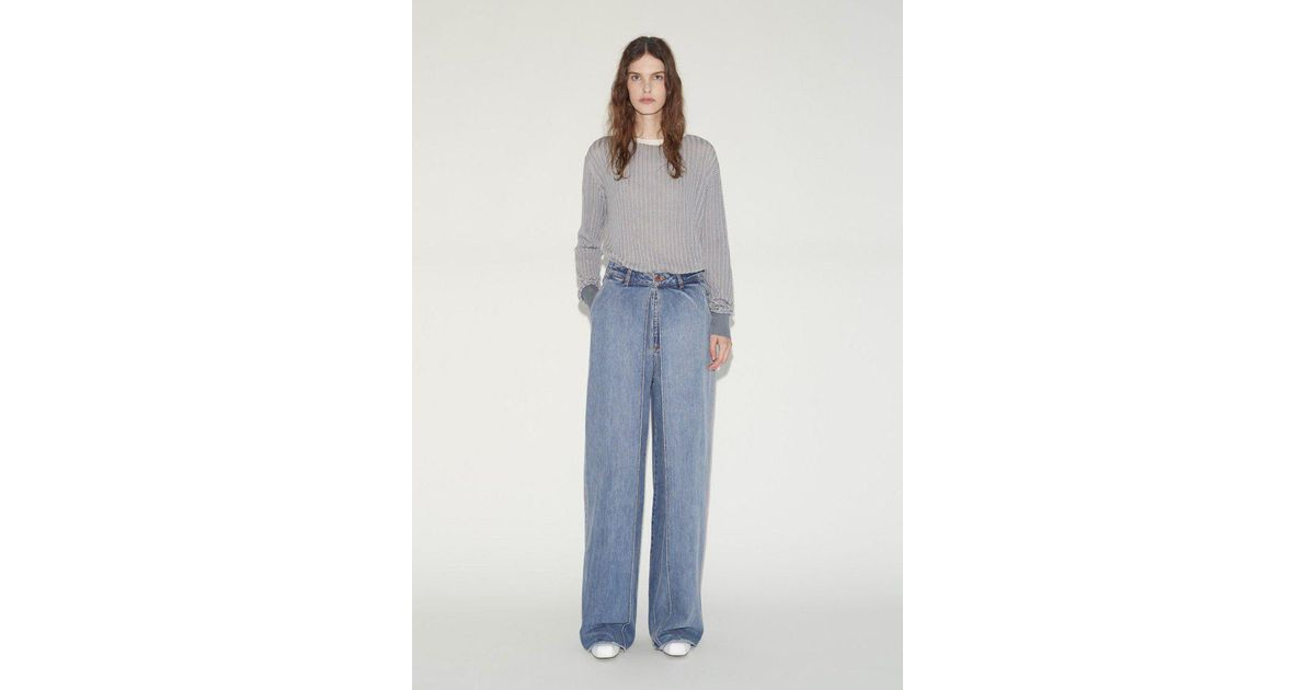 front pleat jeans - Blue AALTO Big Discount Cheap Online Cheap Sale Fashionable Extremely W1cVS