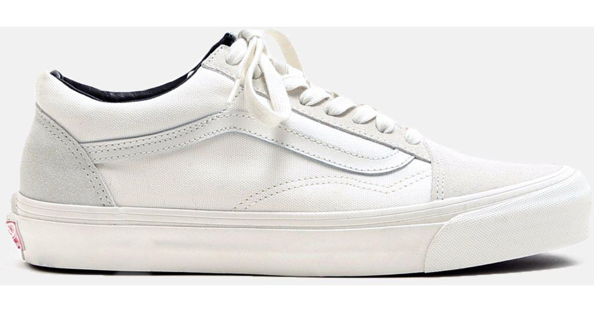98cd297abce Lyst - Vans Og Old Skool Suede Canvas Sneakers in White for Men